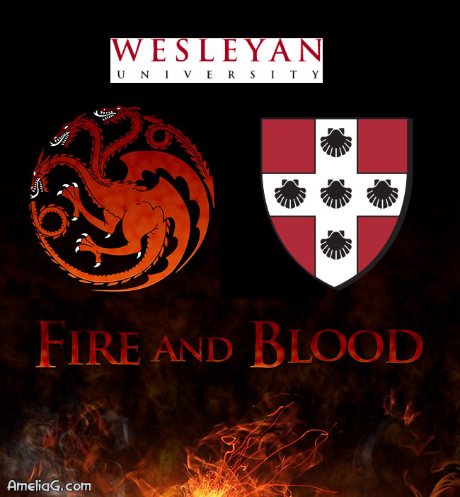 Daenerys Targaryen Amelia G Wesleyan University Fire and Blood